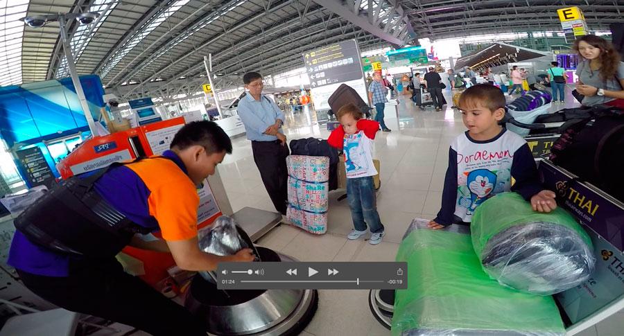 упаковка багажа Бангкокский аэропорт Суварнабхуми