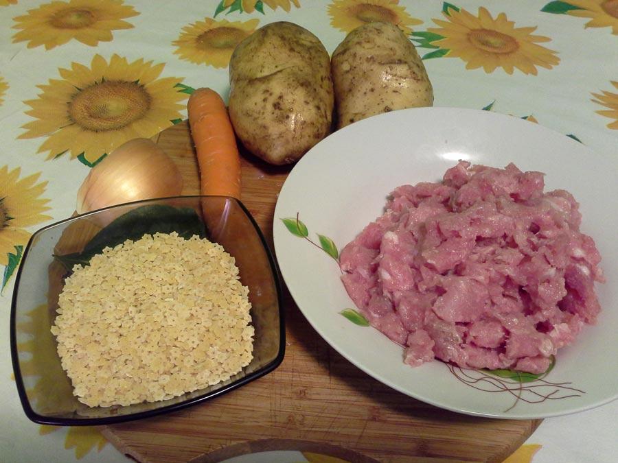 продукты для супа с фрикадельками