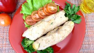 Куриные рулетики с сыром и брокколи