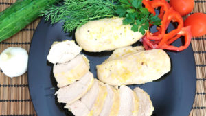 Куриное филе в медово лимонном соусе