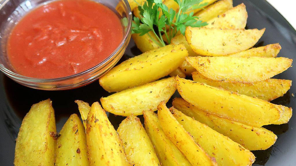 Картошка в духовке по деревенски
