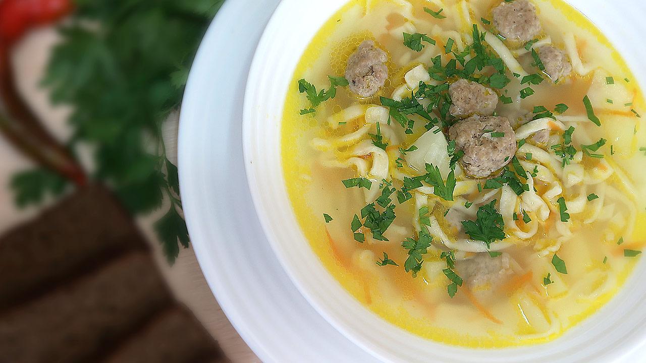 для картинки суп лапша с фрикадельками вот