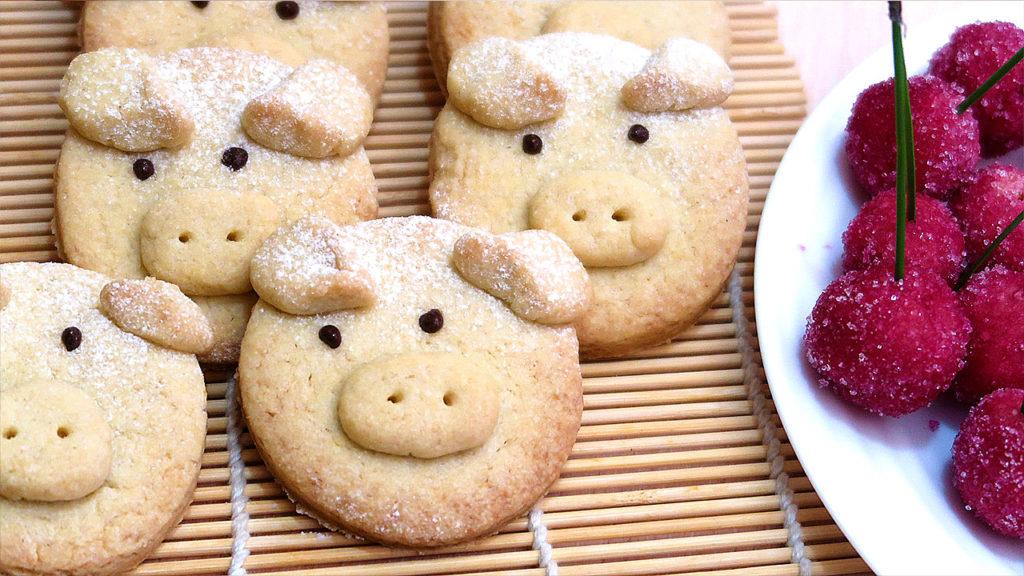 Песочное печенье Свинки