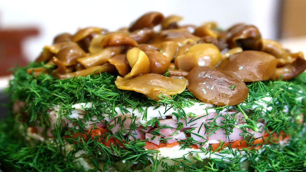 Салат Грибное лукошко