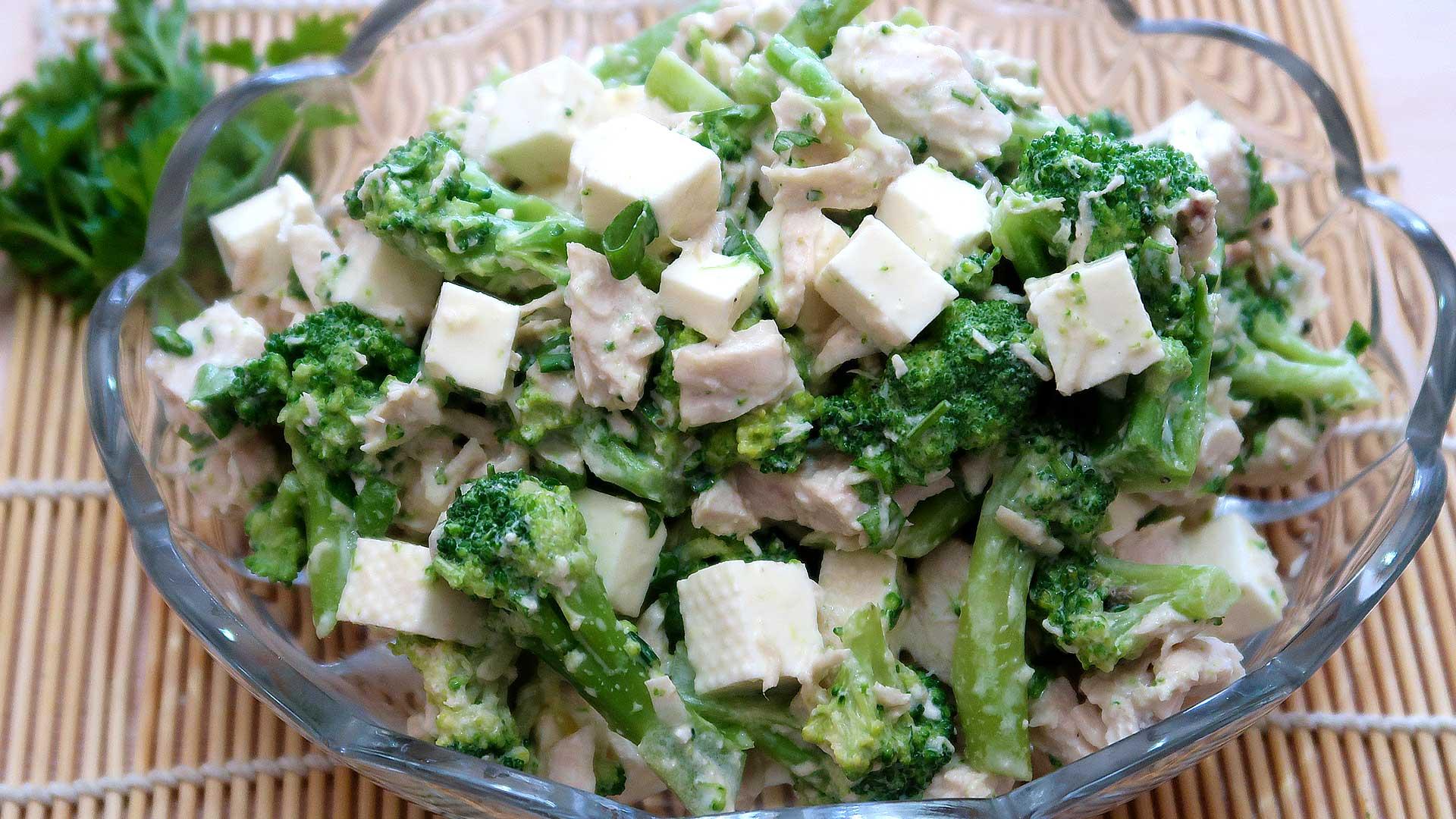 Салат из брокколи рецепты с фото простые