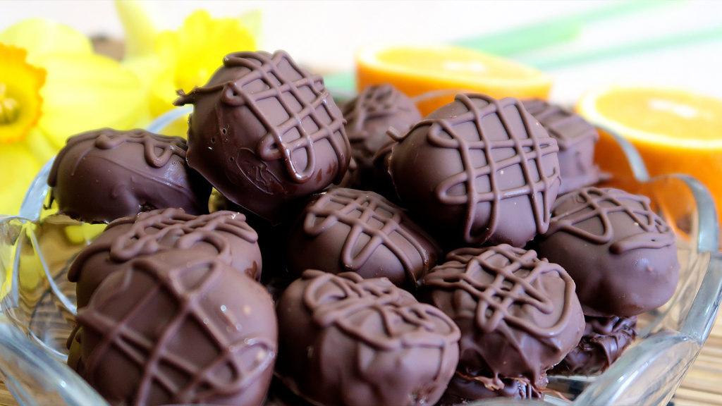 Шоколадные конфеты из арахиса