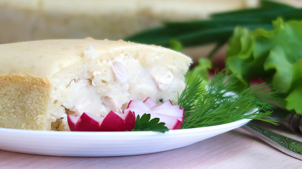 Картофельный заливной пирог