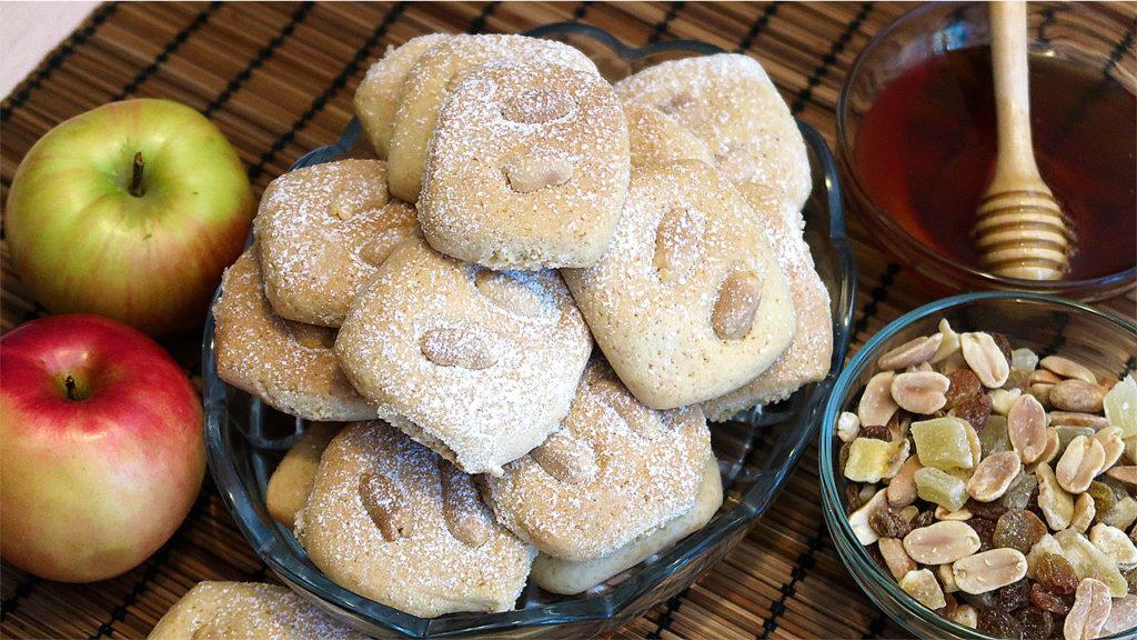 Медовое печенье с арахисом