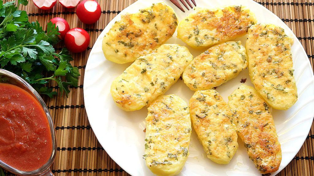 Чесночный картофель с сыром