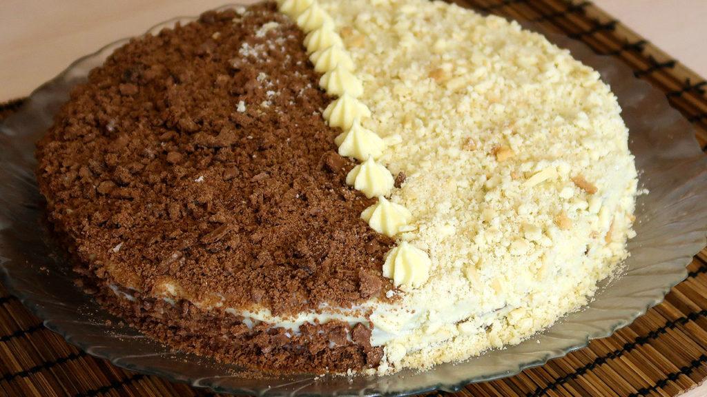 Торт крем-брюле с заварным кремом