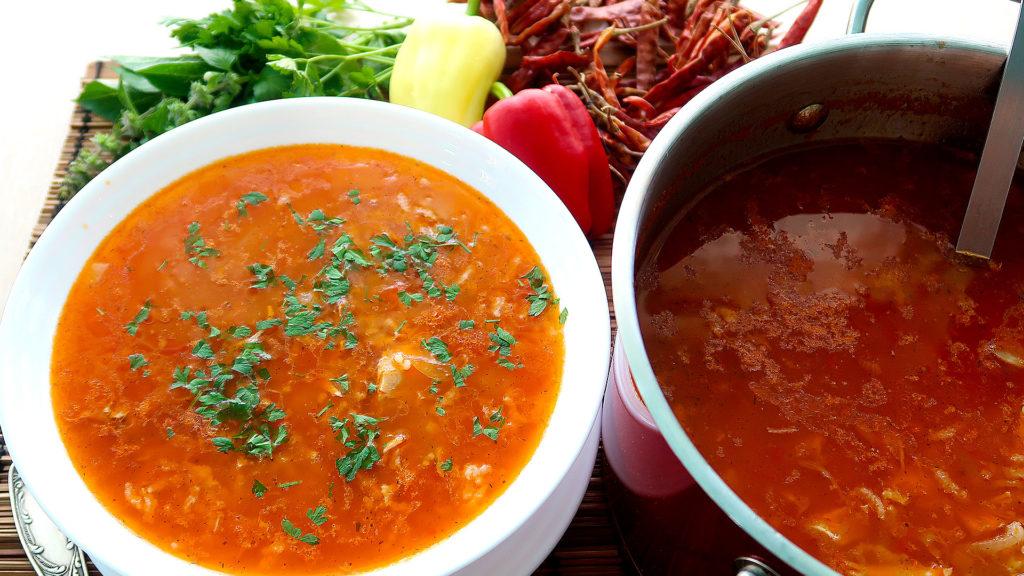 Домашний суп Харчо с курицей