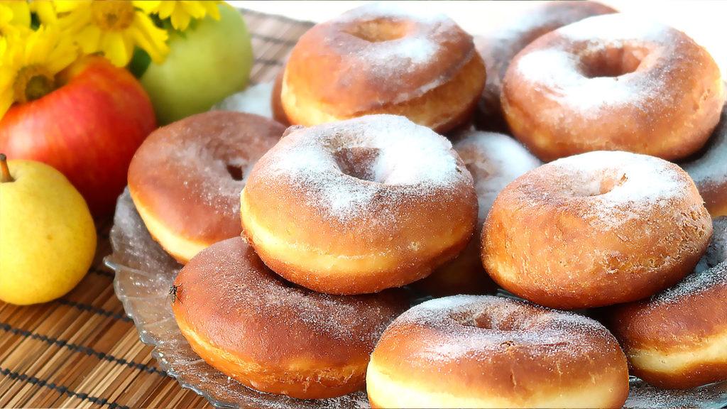 медовые пончики на молоке