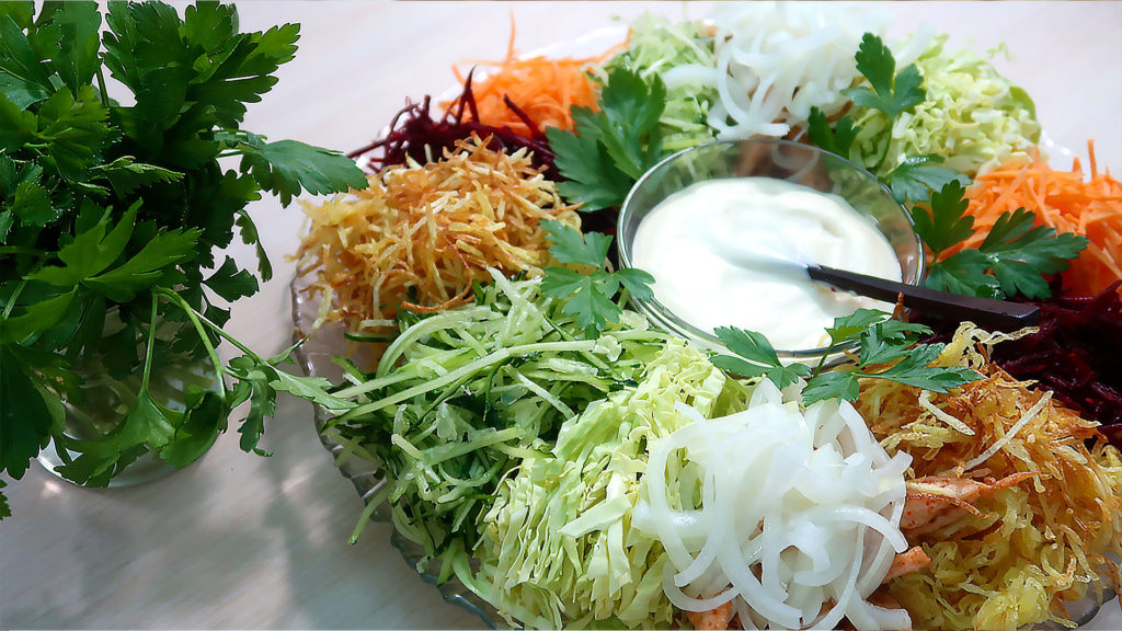 Красивый и вкусный салат Чафан