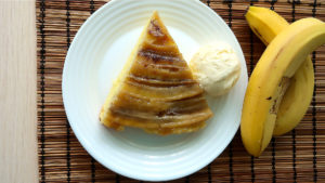 Пирог перевертыш с бананами